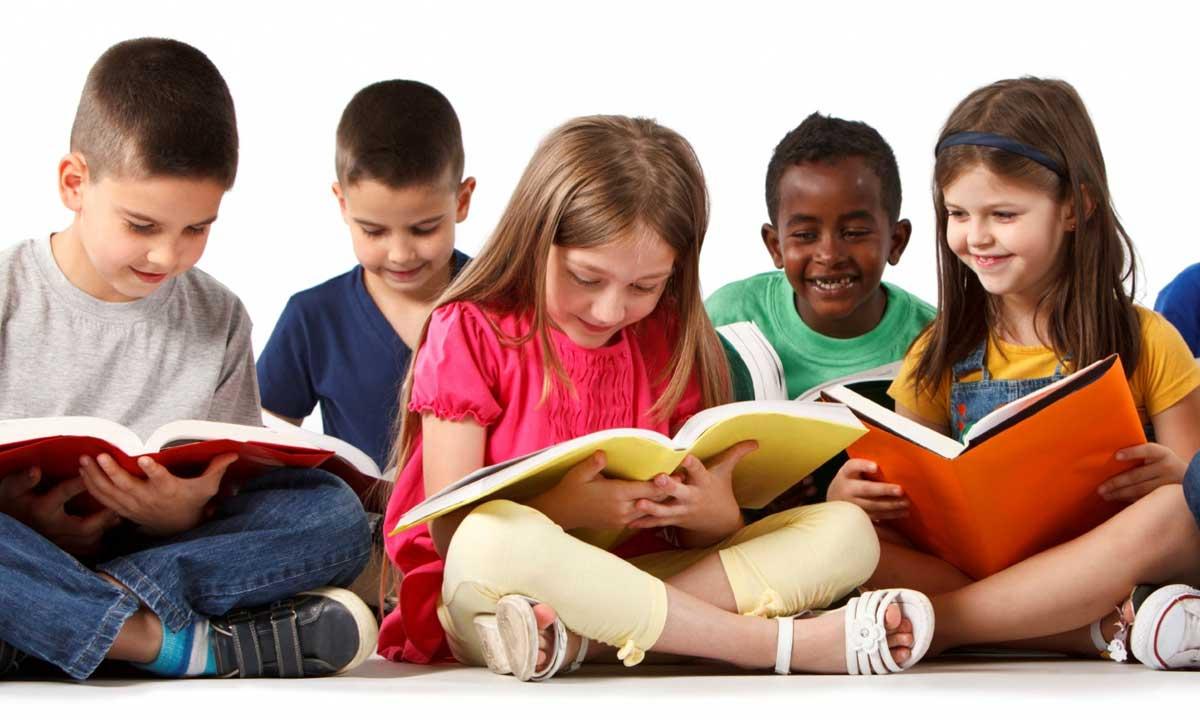 children-enjoy-group-reading
